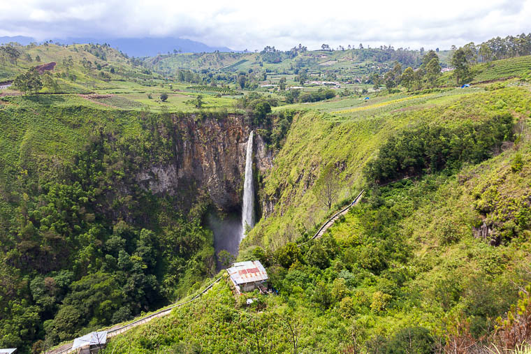 Sipiso-piso waterfall, Tongging, Lake Toba, North Sumatera