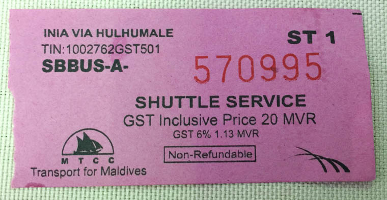 airport to hulhumale, airport shuttle bus ticket