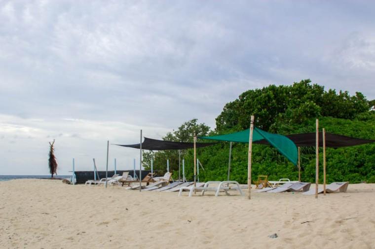 Bikini beach at Hangnaameedhoo