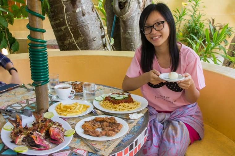 Food in Kalaafaanu Retreat, Hangnaameedhoo