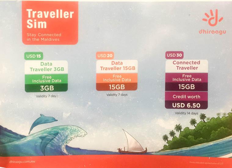 male airport, maldives sim card, maldives dhiraguu price