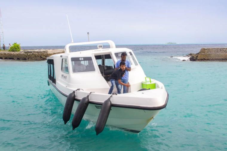 Speedboat from Hangnaameedhoo to Male, Maldives
