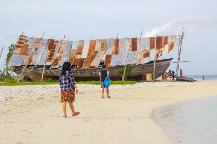 Beach at Maafushi Island Maldives 3