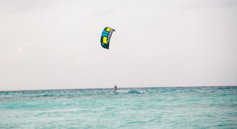Beach at Maafushi Island Maldives