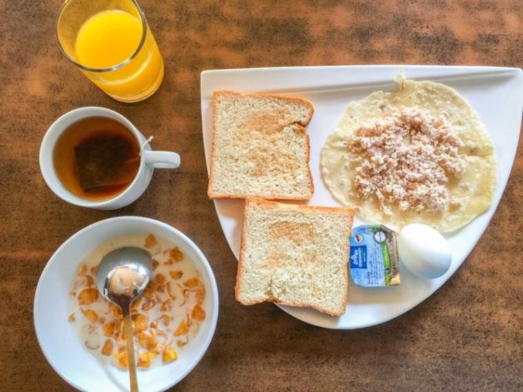 Maafushi Inn breakfast at Maafushi Maldives