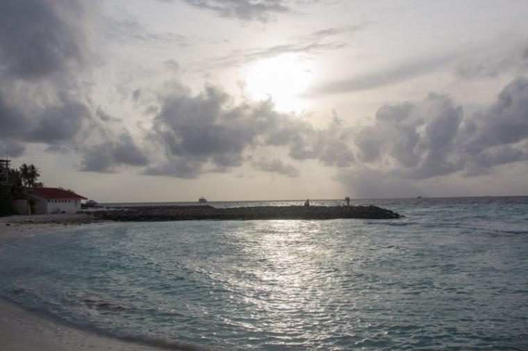 Sunset in Maafushi Island Maldives